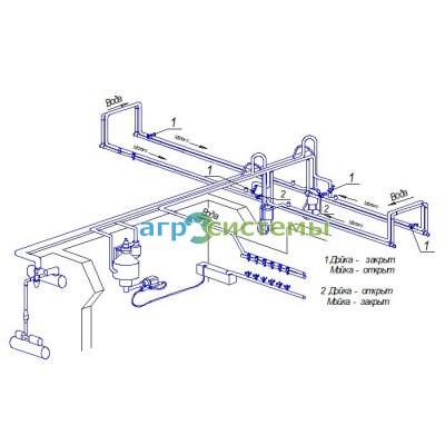 Линейный молокопровод АС 50 (50 голов)