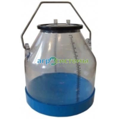 Аппарат доильный попарного доения в прозрачное ведро 30л.